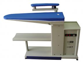 IRONING TABLE WITH VACUUM, HEATED IRONING SURFACE WITH SUCTION, HEATED SLEEVE ARM WITH SUCTION