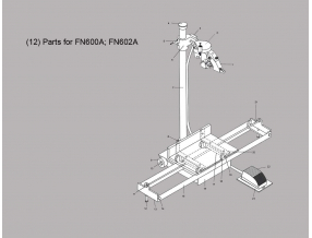 (12) PARTS FOR FN600A; FN602A