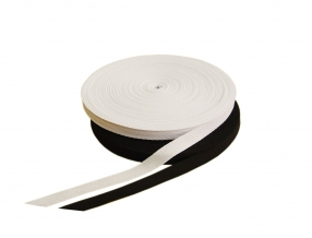 COTTON RIBBON 20 mm; KNITTING FISHING BONE; 50 m