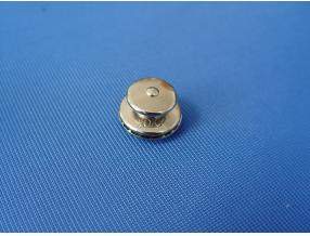 SNAP BUTTON WITH LOCK - UPPER PART, BIG HEAD, BRASS NICKEL PLATED
