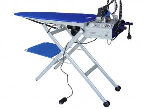 folding table with built-in ironing and steam iron damper, vacuum and heating plates