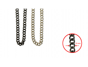 CHAINS; METAL;  10 mm; THE PRICE IS FOR 1 METER