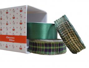 CHRISTMAS RIBBON COMPLECT, lenght of roll 3m, width: 30,25 mm