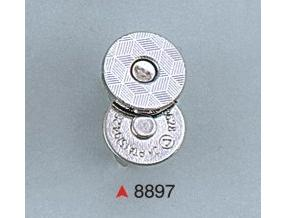 MAGNETIC BOTTON, NICKEL, SIZE: 10,5 x 3 mm