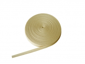 COTTON RIBBON 25 mm; KNITTING FISHING BONE; 50 m
