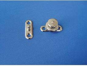 SNAP BUTTON WITH LOCK - COMPLECT, BRASS NICKEL PLATED, L= 34.2mm