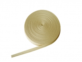 COTTON RIBBON 30mm; KNITTING FISHING BONE; 50 m
