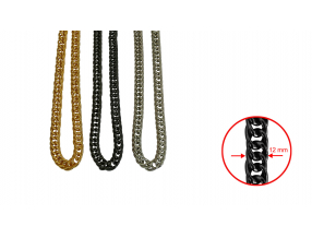 CHAINS; ALUMINUM ; 12 mm; THE PRICE IS FOR 1 METER
