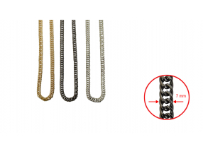 CHAINS; METAL; 7 mm; THE PRICE IS FOR 1 METER