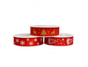 CHRISTMAS DECORATIVE TAPE - WIDTH 25 mm, ROLL - 20 m