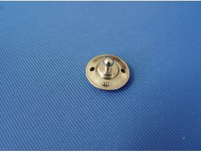 SNAP BUTTON WITH LOCK - LOWER PART FOR FABRIC, BIG HEAD, BRASS NICKEL PLATED