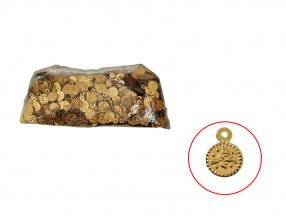 GOLD COIN - 7 mm, PLASTIC, PACKET - 15 gr