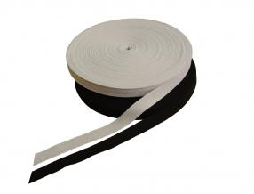 COTTON RIBBON 15mm KNITTING FISHING BONE, 50 m