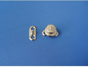 SNAP BUTTON WITH LOCK - COMPLECT, BRASS NICKEL PLATED, L= 27mm