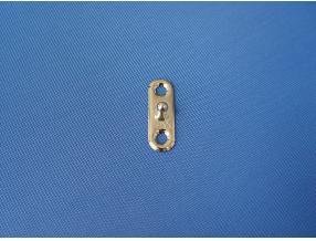 SNAP BUTTON WITH LOCK - LOWER PART BIG(TBR) PLATE L= 34.2mm, BRASS NICKEL PLATED
