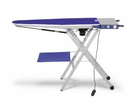 FOLDABLE IRONING TABLE WITH VACUUM AND HEATING AREA AND CUSHION