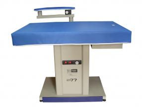 IRONING TABLE WITH VACUUM, HEATING AREA AND ARM