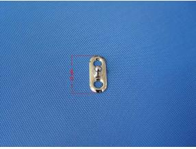 SNAP BUTTON WITH LOCK - LOWER PART SMALL PLATE L= 27 mm, BRASS NICKEL PLATED