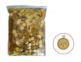 GOLD COIN - 16 mm, PLASTIC, PACKET - 0.500 gr