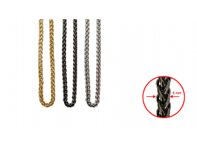 CHAINS; METAL; 6 mm; THE PRICE IS FOR 1 METER