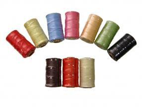 THREAD, BRAIDED, WAXED  FOR HAND SEWING, THICKNESS 1 mm; 100 m