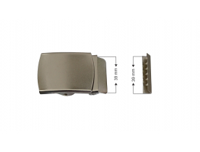 BUCKLE WITH NOZZLE - SET, METAL, INNER SIZE 39 mm