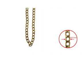 CHAINS; ALUMINUM ; 10.5 mm; THE PRICE IS FOR 1 METER